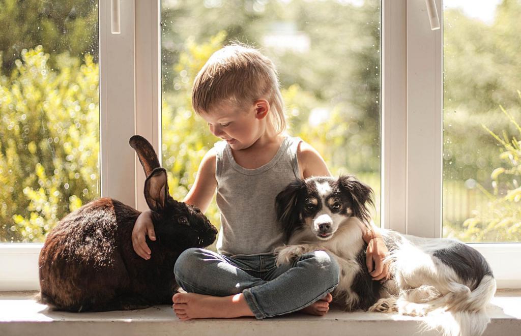 Ребенок и животное в одной квартире